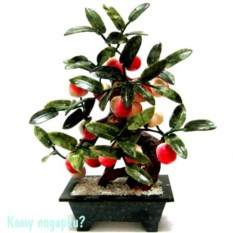 Дерево «Персики», 18 плодов, 34 см