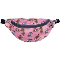 Поясная сумка Тату розовые
