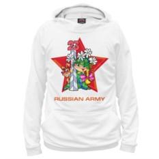 Белое худи Армия России. Пограничные войска