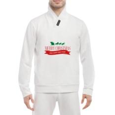 Белая мужская толстовка Merry Christmas