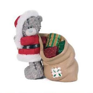 Мишка в костюме Деда Мороза
