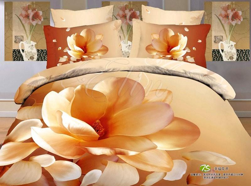 Сатиновое постельное белье  Кремовый аромат (Elin)