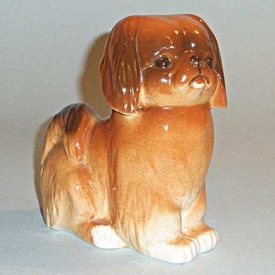 Винтажная статуэтка пекинес Милый друг