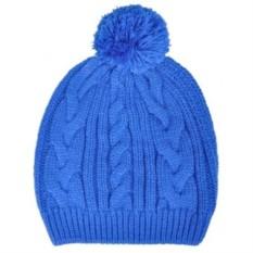 Синяя шапка Irish с помпоном