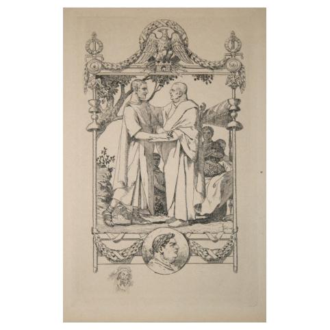 Гравюра «Римляне»
