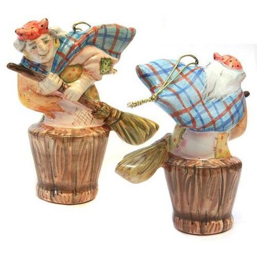 Ёлочная игрушка Баба-Яга (коллекция Петя и Волк)