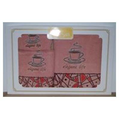 Набор полотенец с вышивкой DOLI PINK