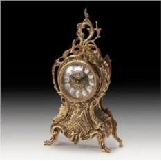 Часы из бронзы Всадник 33х16 см, цвет золотой