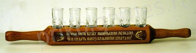 Подставка под стопки Лучше пить водку..., хрусталь