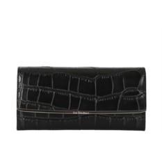 Чёрный кожаный женский кошелёк Leo Ventoni