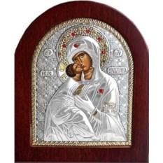 Икона в серебряном окладе Владимирская Богоматерь
