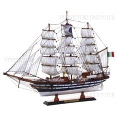 Модель корабля из дерева, длина 65см
