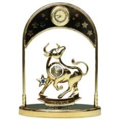 Фигурка декоративная Swarovski с часами Знак Зодиака Телец