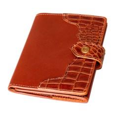 Светло-коричневое портмоне для документов