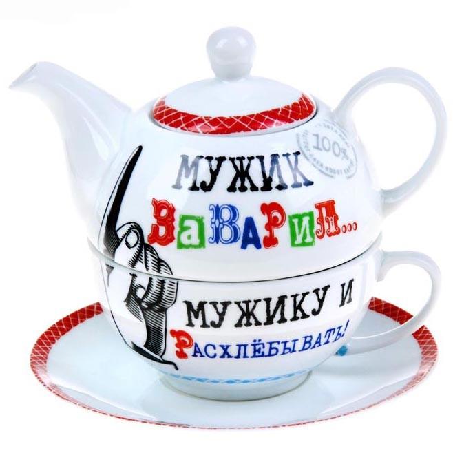 Чайный набор на 1 персону «Мужику расхлебывать!»