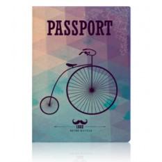 Обложка для паспорта Ретро велосипед