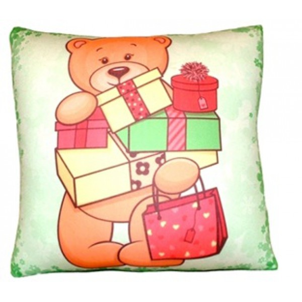 Подушка антистресс Мишка с подарками