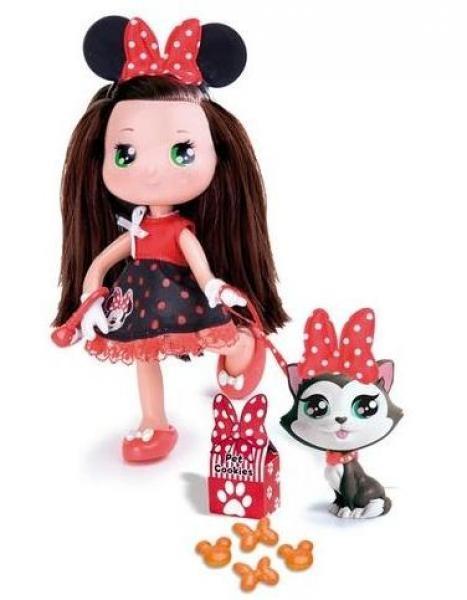 Кукла Минни брюнетка с кошкой, Famosa