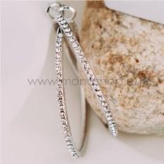 Серьги-кольца «Кокетка» с австрийскими кристаллами