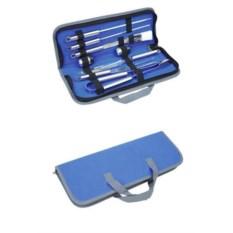 Синий набор для приготовления барбекю в чехле