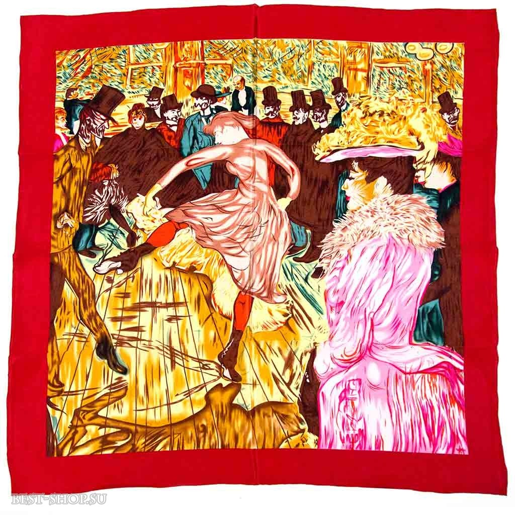 Платок Танец в Мулен Руж