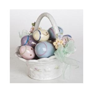 Музыкальная статуэтка «Корзинка пасхальных яиц»