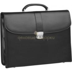 Кожаный портфель с тремя секциями