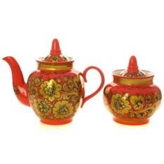 Чайный сервиз с художественной росписью Торжество