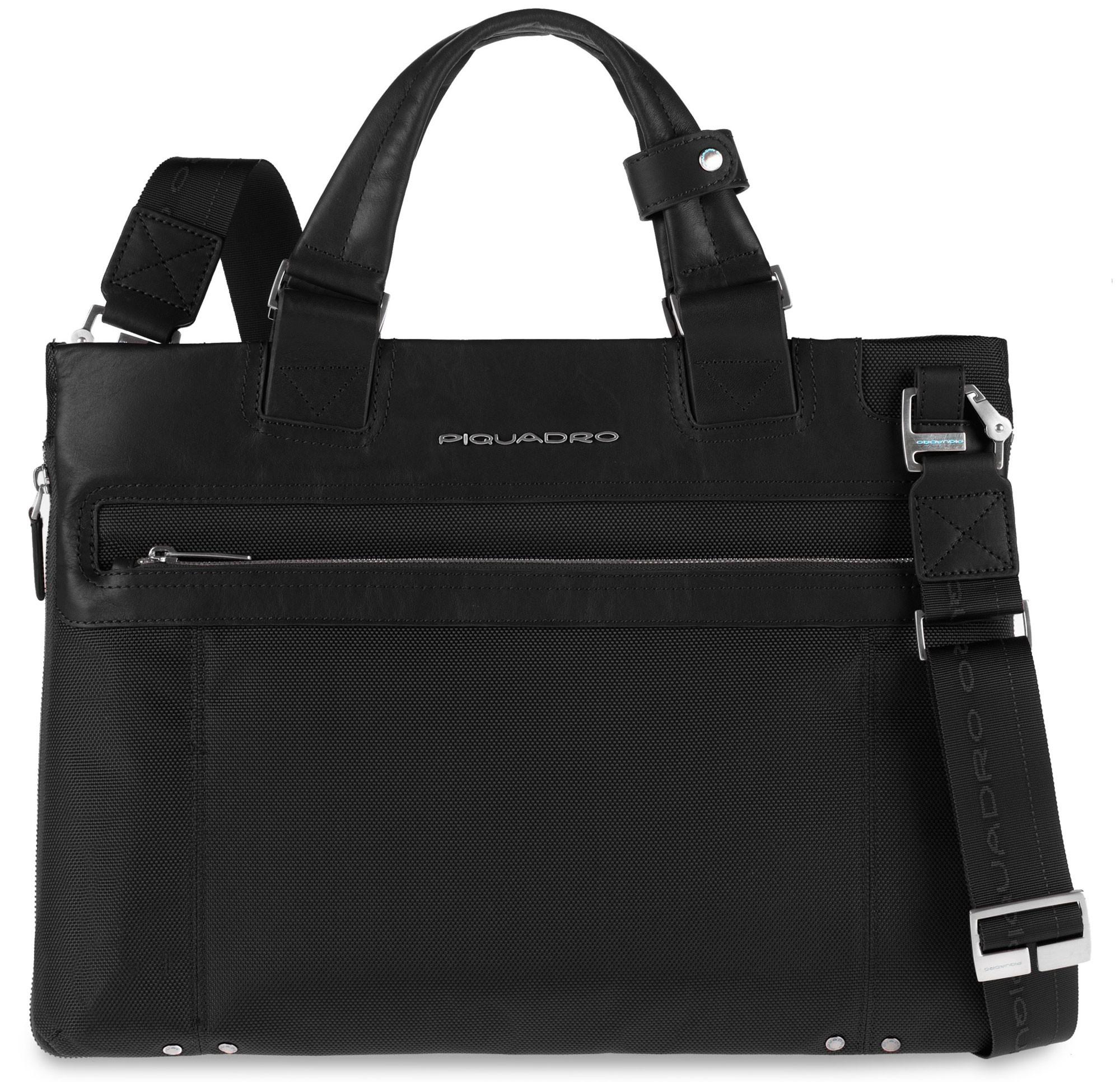 Черная компьютерная расширяемая сумка Piquadro Link