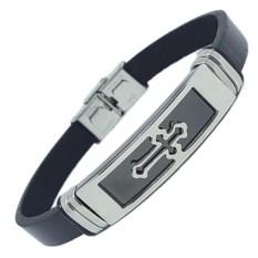 Каучуковый браслет Черный крест