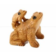 Малая статуэтка Лягушка с детенышем