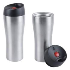 Серебристый вакуумный термостакан Гаспаро 370 мл