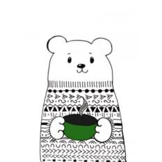 Открытка Медведь в свитере. Кружка