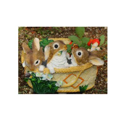Кашпо «Три зайчика в корзине»