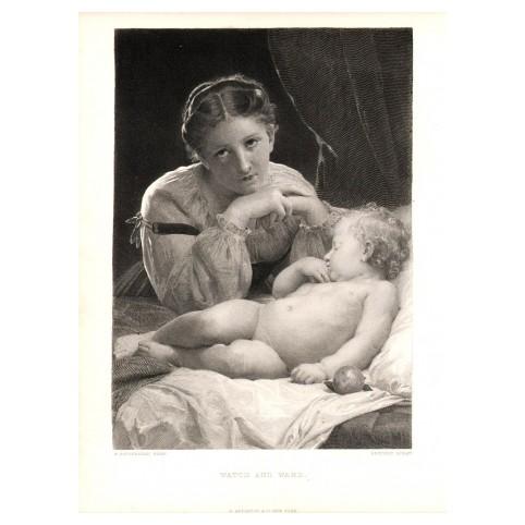 Гравюра «Оберегая сон ребёнка»
