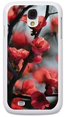 Чехол для Samsung S4 (пластик), красные цветы