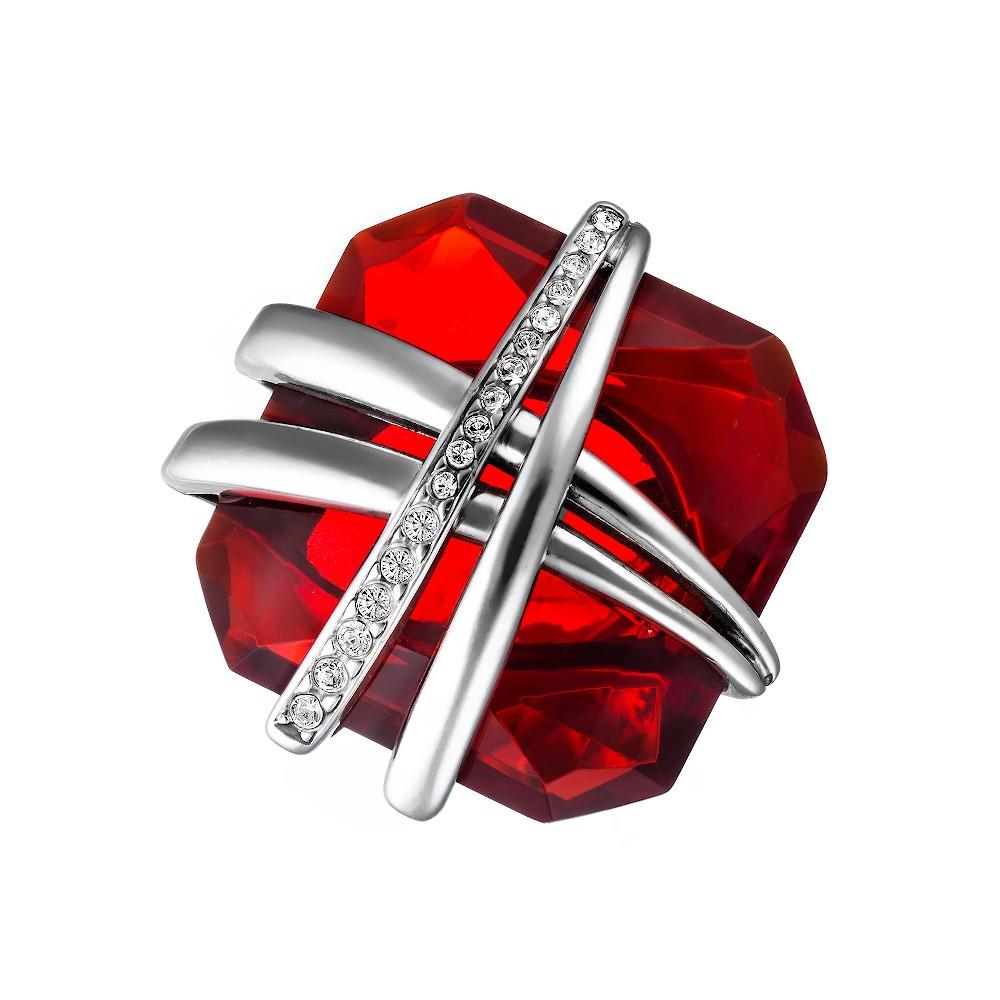 Серебряное кольцо Eugenio Campos с рубином и фианитами
