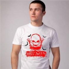 Футболка Halloween. Скелет