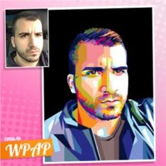 Портрет на холсте по фото в стиле WPAP Брутал