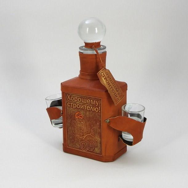 Подарочная бутылка для мужчины Хорошему строителю