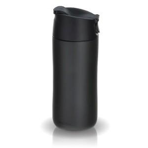 Черная термокружка Flip & Sip