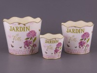 Набор кашпо из 3-х штук Jardin