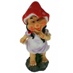 Садовая фигура Гном-девочка