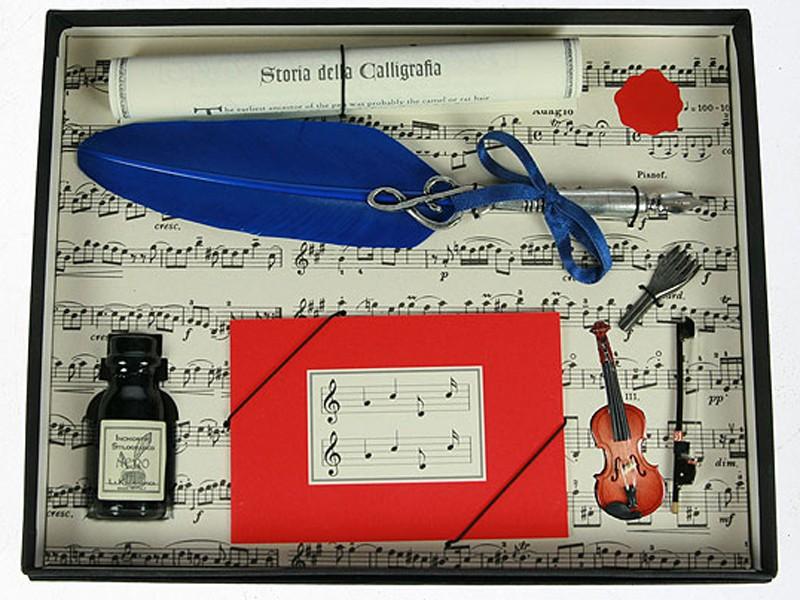 Подарочный набор для письма Синее перо