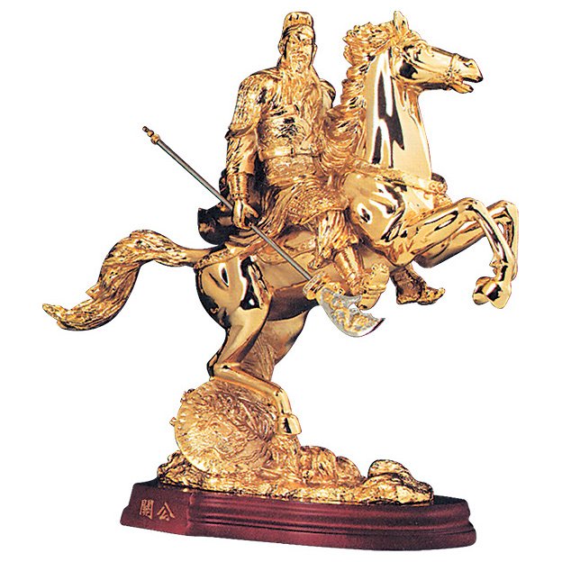 Статуэтка «Воин Гуан-гонг на коне»