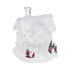 Светящийся новогодний сувенир Дом в снегу