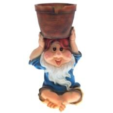 Кашпо Гном с горшком на голове