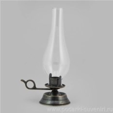 Ламповый подсвечник со стеклянным плафоном Антик
