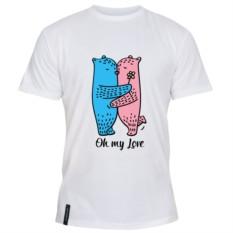 Мужская футболка Oh my love