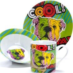 Набор детской посуды 3 предмета Cool Dog